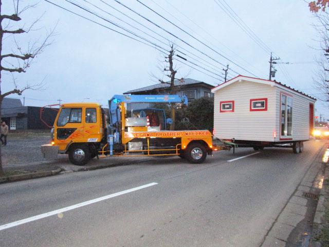 高級トレーラーハウス(中古・新車)の運搬